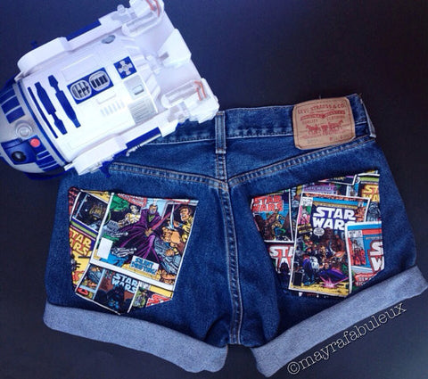Star Wars High Waisted Shorts
