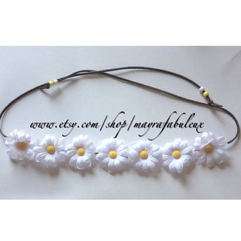 Mini Daisies Flower Crown