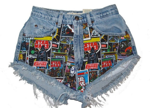 Star Wars High Waisted Cut Offs Shorts