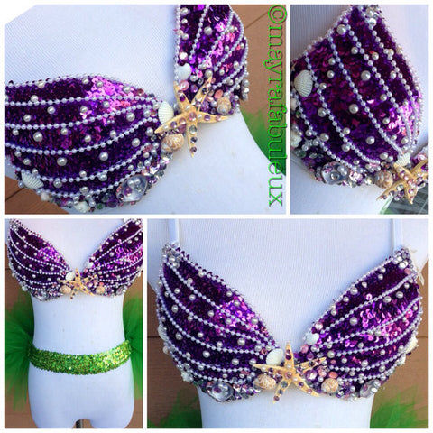 The Little Mermaids Ariel Rave Bra