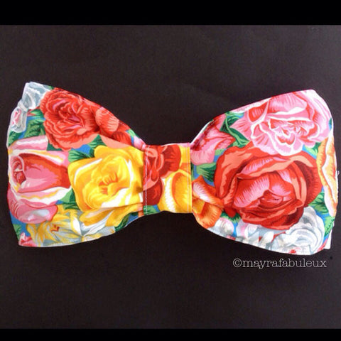 Painted Roses Bow Bandeau Top