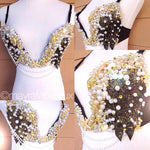 Gold and Black Mermaid Bra
