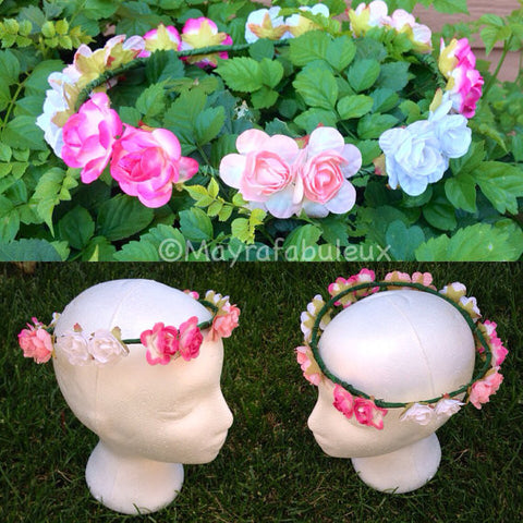 Ombre Roses Flower Crown