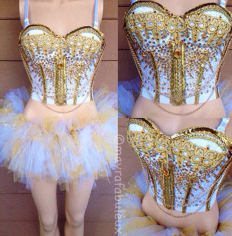 Golden Goddess Bustier and Tutu Outfit