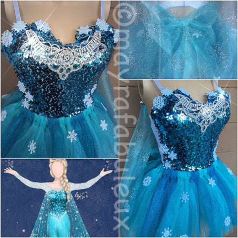 Elsa From Frozen Bustier and Tutu Outfit
