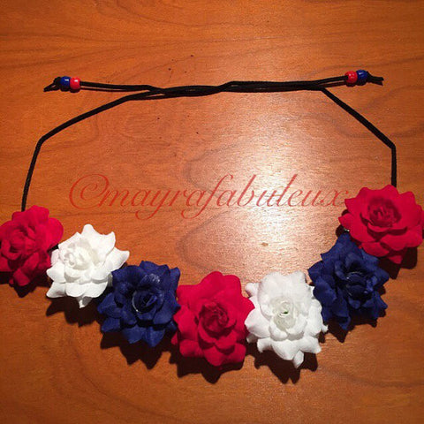 USA Roses Flower Crown