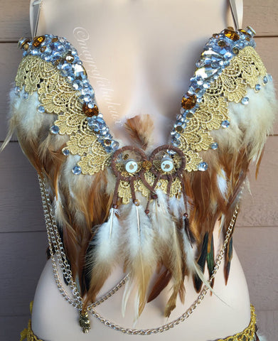 Light Up Owl Plunge Bra