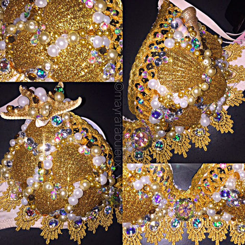 AB Golden Mermaid Rave Bra