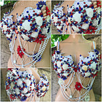 Red, White and Blue Mermaid Rave Bra