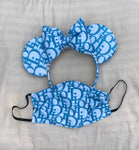 Blue Lady D Minnie Ears, Crystal Minnie Ears