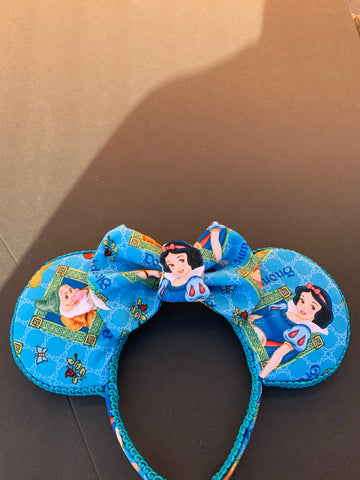 Snow White Minnie Ears, Minnie Mouse Ears, Mickey Ears