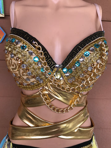 Egyptian Glam Rave Bra