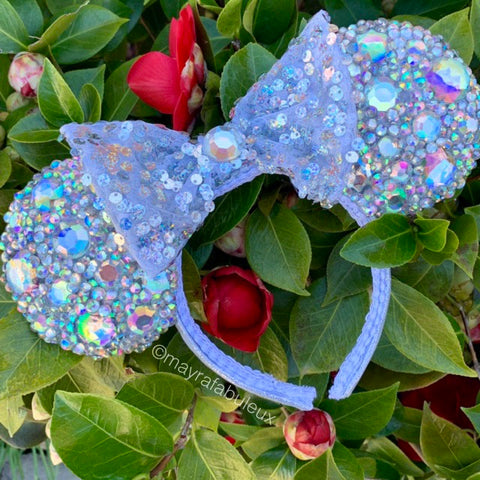 Iridescent AB Crystalized Minnie Ears, Mickey Ears, Minnie Mouse Ears, Disney