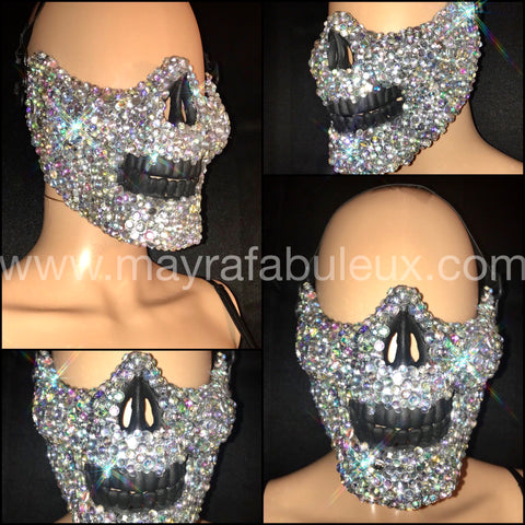 AB Crystalized Half Skeleton Mask