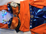 Goku Rave Bra and Bottoms - Rave Outfit
