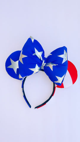 America Minnie Ears, Flag Minnie Ears, Mickey Ears, Disney Ears