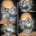 Spikes and Crystals Half Skeleton Mask