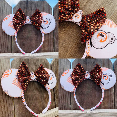 Star Wars BB-8 Minnie Ears, Minnie Mouse Ears, Mickey Ears, Disney