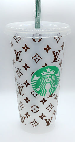 Reusable Cold Cup, Starbucks Tumbler, Monogram Tumbler