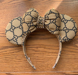 Gold and Black Minnie Ears, Crystal Minnie Ears, Disney Ears