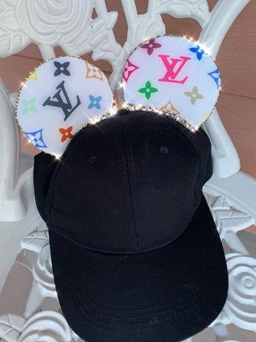 Rainbow Louis Vuitton Mickey Ears Hat