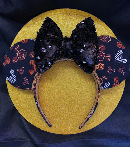 Animal Kingdom Theme Minnie Ears, Crystal Minnie Ears, Disney Mickey Ears