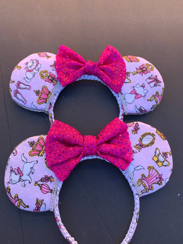 Her Royal Highness Marie from The Aristocats Minnie Ears, Marie Minnie Ears, Disney Ears