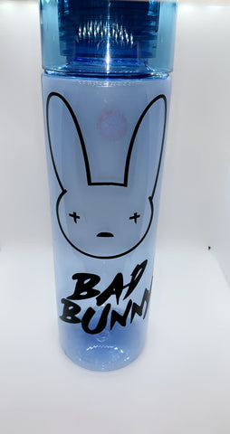 Bad Bunny 24.5 OZ Water Bottle, Bad Bunny Reusable Plastic Water Bottle