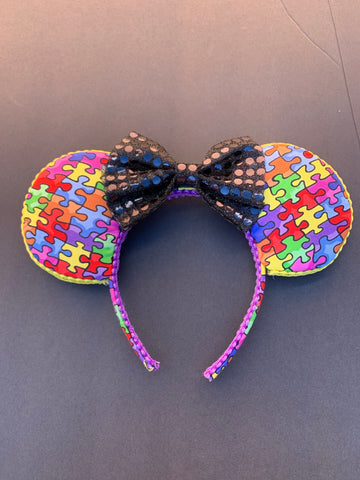 Autism Awareness Minnie Ears, Minnie Mouse Ears, Mickey Ears