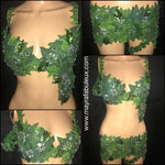 Poison Ivy Rave Bra and Booty Shorts Outfit- Poison Ivy Costume
