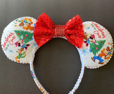 Mickey and Friends Minnie Ears, Disney Ears, Christmas Minnie Ears, Holiday Theme Minnie Ears, Mickey Ears