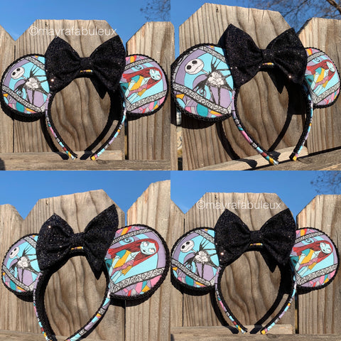 The Nightmare Before Christmas: Jack and Sally Minnie Ears