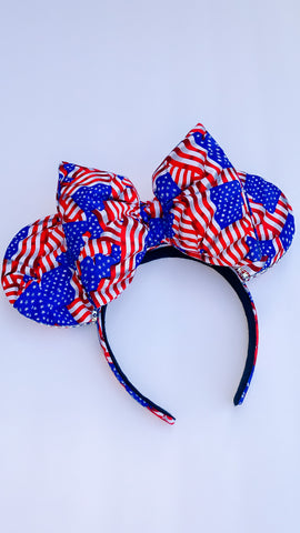 American Flag Minnie Ears, Mickey Ears, Disney Ears
