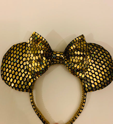 Gold Galactic Minnie Ears, Minnie Mouse Ears, Mickey Ears