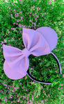Lavender Louis V Leather Minnie Ears, Disney Minnie Ears