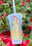 Belle Crystallized Gem Venti Starbucks Tumbler, Disney Tumbler, Belle Cup