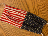American Flag. Mask, Adult Face Mask, Reusable  Face Mask, Cotton Face Mask