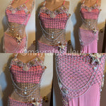 Pink Mermaid Rave Bra and Long Skirt - Complete Rave Outfit