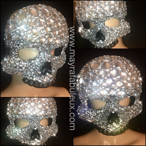 Skeleton Crystal Rhinestoned Mask