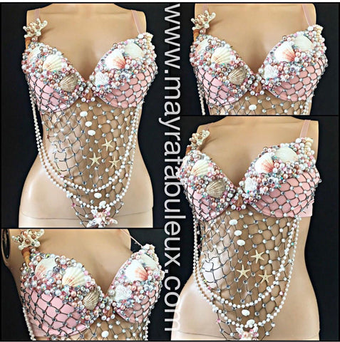 Light Pink Mermaid Rave Bra