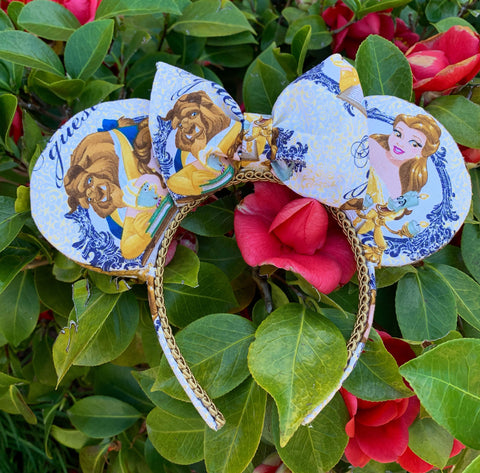 Beauty and The Beast Minnie Ears, Belle Minnie Ears