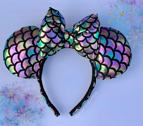 Oil Slick Mermaid Minnie Ears, Disney Ears