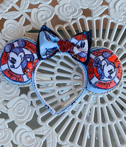 Disney Cruise Minnie and Mickey Mouse Ears, Minnie Ears