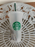 Castle Crystallized  Starbucks, Reusable Venti Cold Cup, Starbucks Cup, Crystallized Starbucks Tumbler