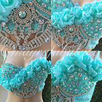 Crystal Mint Roses Bustier