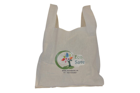 Plain D Handle Cotton Cloth Bag