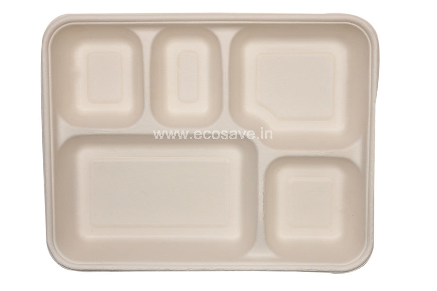 5 Bagasse Compartment plate