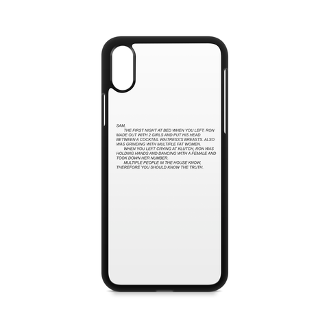 Anonymous letter to sam Jersey Shore Phone Case / Étui Jersey Shore Sammi