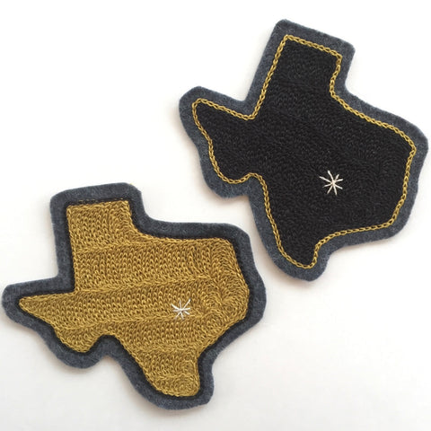 Texas Embroidered Chain-Stitch Patch