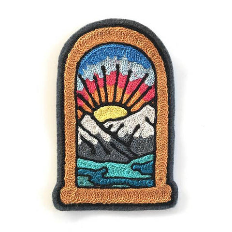 Mountain View Chainstitch Embroidered Patch